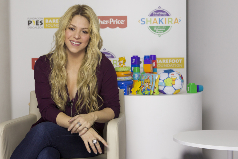Mom, philanthropist and global pop singer, Shakira, partners with Fisher-Price to launch new toy lin ...