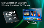 Sixth-Generation Solution: The Industry's Smallest Silicon TV Tuner IC for the Flat-Panel TV Market (Graphic: Business Wire)