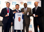 ZTE Now Official Smartphone Sponsor of New York Knicks, Houston Rockets and Golden State Warriors (Photo: Business Wire)