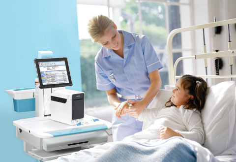 The Brother TrustSense(TM) thermal printers, now classified as Certified* devices for use by Cerner clients, provide on-demand wristband and label printing virtually anywhere in the hospital (Photo: Business Wire)