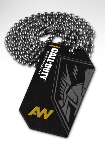 Limited edition Call of Duty(R): Advanced Warfare dog tag. All profits used to place veterans in jobs. (Photo: Business Wire)