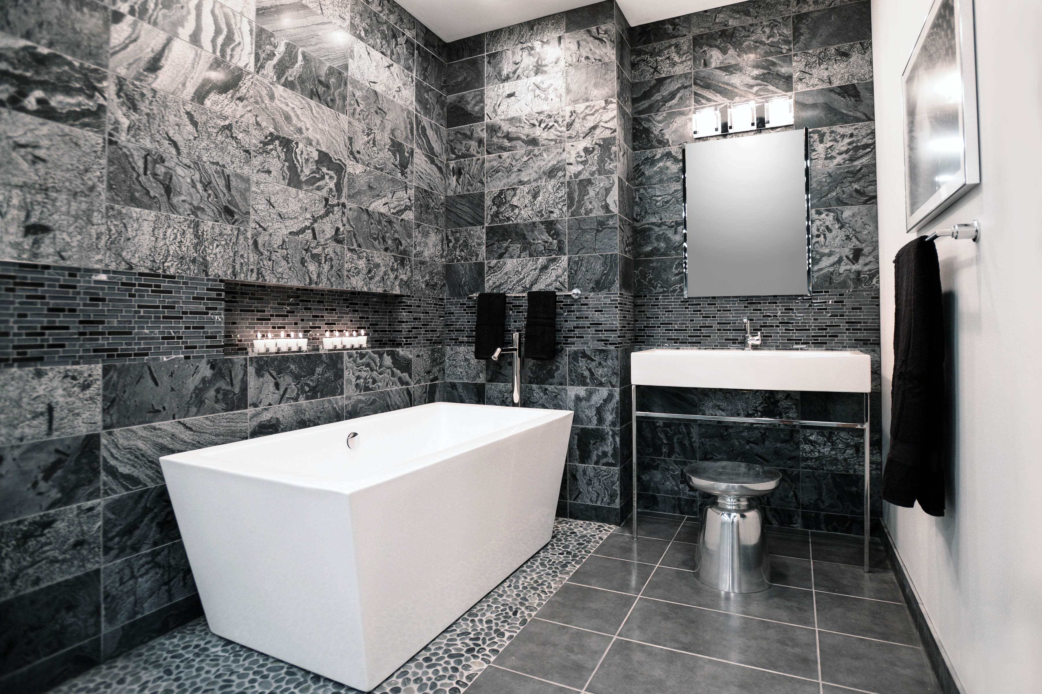 black white and silver bathroom the tile shop introduces 2015 design preview providing 22785