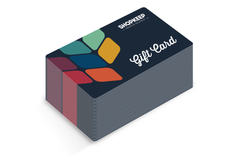 Stack of ShopKeep gift cards (Photo: Business Wire)