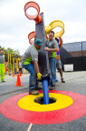 Baltimore City children have a new, safe playground to play on, thanks to an impressive, one-day playground build at the Monarch Academy by more than 200 volunteers from Baltimore Gas and Electric Company (BGE), Monarch Academy, The Children's Guild, KaBOOM! and the local community. (Photo: Business Wire)