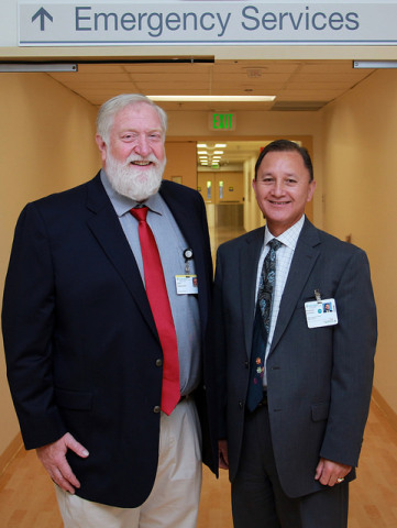 Leon J. Owens, M.D., founder, CEO and president of Surgical Affiliates Management Group (left), and Richard SooHoo, chief financial officer, Sutter Medical Center, Sacramento (right) (Photo: Business Wire)
