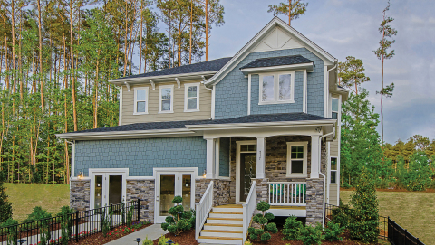 A 2,380 square foot KB home modeled at the builder's popular Oakwood North neighborhood in Raleigh.