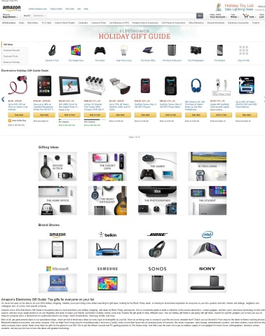 Amazon Electronics Holiday Gift Guide (Photo: Business Wire)
