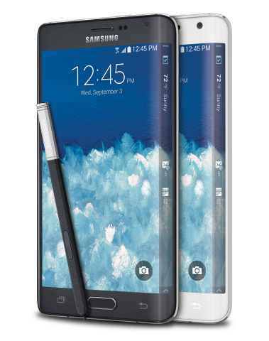 Samsung Galaxy Note Edge (Photo: Business Wire)