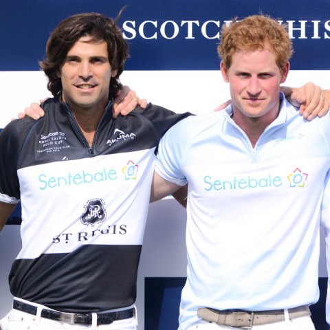 St. Regis Connoisseur Nacho Figueras & Prince Harry at The Sentebale Royal Salute Polo Cup in Greenw