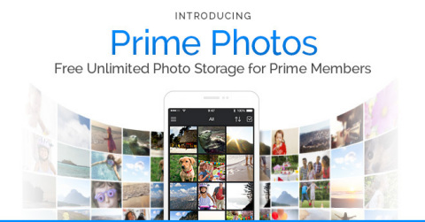 Amazon today introduced Prime Photos, the newest benefit for Prime members, which provides free unlimited photo storage in Amazon Cloud Drive. Most people have a lifetime of birthdays, vacations, holidays, and everyday moments stored across numerous devices. And, they continue to create billions of photos every year. Now, Prime members have a simple, secure place to store them all for free. Starting today, members can securely store their existing photo collections, automatically upload new photos taken and access them anytime, anywhere, at no cost. Members can start using the Prime Photos benefit today by visiting www.amazon.com/primephotos. (Graphic: Business Wire)
