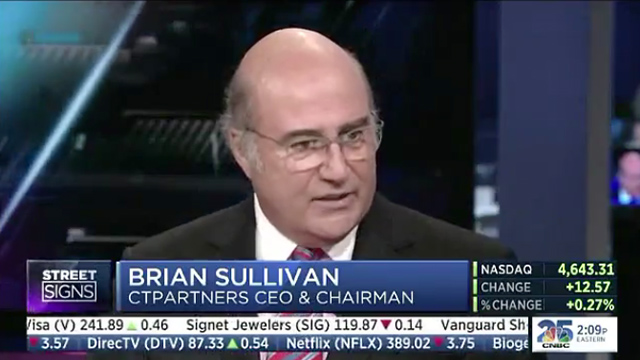 Brian Sullivan, CTPartners Chairman & CEO, discusses the state of the U.S. economy and reveals what sectors will create the hottest jobs in 2015. (Video: Business Wire)