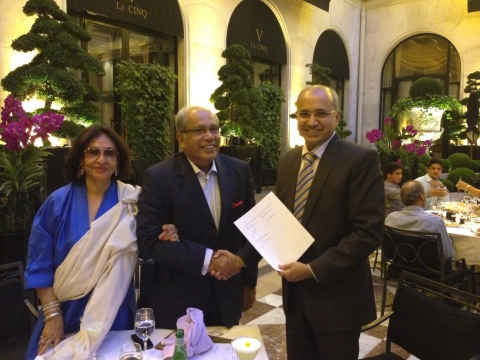 Dr Javad Hassan - NeST Group Founder & Chairman and Ajit Prabhu - Chairman & CEO QuEST Global formal ...