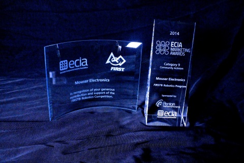 Mouser Electronics was awarded the 2014 ECIA Community Activism Award for its strong support of FIRST Robotics. ECIA is the Electronic Component Industry Association. (Photo: Business Wire)
