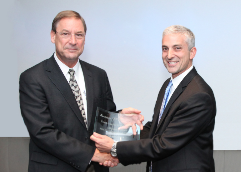 Barry Batcheller, Chairman and CEO Appareo Systems and Eric Hansotia, SVP ATS & Harvesting at AGCO (Photo: Business Wire)