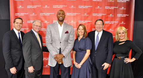 Today at Miami's Overtown Youth Center with Miami Heat legend Alonzo Mourning, Comcast and Walgreens ...