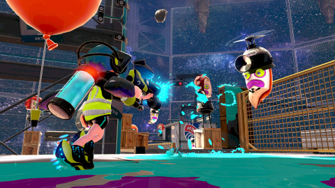 Splatoon, the four-on-four online multiplayer shooter launching for Wii U in the second quarter 2015, features a single-player mode, which pits a player's squid-like Inkling character against an army of octopi equipped with an arsenal of ink weaponry. (Photo: Business Wire)