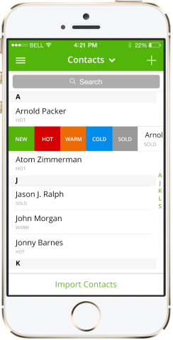 Trulia One iPhone App Contact and Lead Management List (Photo: Business Wire)