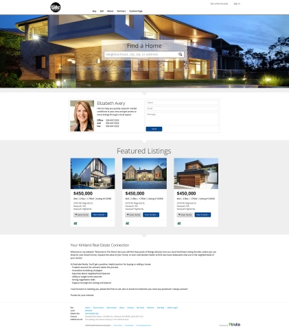 Trulia One Agent Website (Photo: Business Wire)
