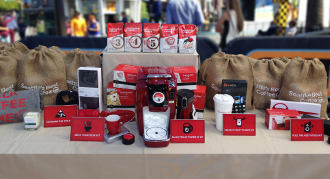 From now until Cyber Monday, holiday deal hunters can enter for a chance to win hundreds of prizes by visiting www.SeattlesBestDoorbusters.com. (Photo: Business Wire)