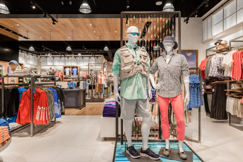 Image of the new columbia pfg store at the avalon mall in for Fishing store portland