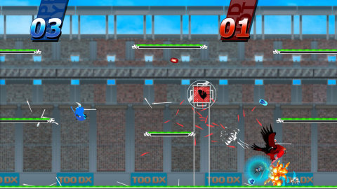In Sportsball, a fun local multiplayer game that entertains a room full of friends, up to four players take the reins of exotic birds that flap, tackle and dunk balls into the net for points and glory. (Photo: Business Wire)