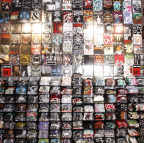 """The iconic Hot Topic """"rock wall"""" makes it easy for music lovers to find their favorite band tees. (Photo: Business Wire)"""