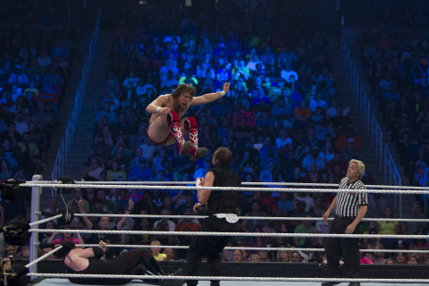 Iconic SmackDown moment: The Shield vs. Randy Orton & Team Hell No: June 14, 2013 (Photo: Business Wire)