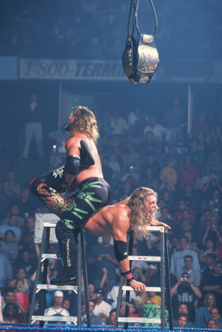 Iconic SmackDown Moment: Edge vs Jericho TLC III: May 24, 2001 (Photo: Business Wire)