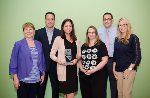 Hilton Grand Vacations Team Members in Las Vegas accept the prestigious Best Places to Work Award, presented by the Southern Nevada Human Resources Association. (Photo: Business Wire)