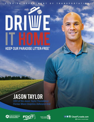 "Jason Taylor ""Drive it Home"" campaign poster (Graphic: Business Wire)"