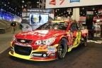 Axalta's Automotive Color of the Year 2015, Radiant Red, debuts at SEMA on the No. 24 Axalta Chevrolet SS, driven by four-time NASCAR Cup Series champion, Jeff Gordon (Photo: Business Wire)
