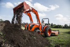 Kubota's all new MX5800 is the highest horsepower utility tractor in the MX-Series line up, combining several upgrades with many of the best features inherited from previous MX-Series models. (Photo: Business Wire)