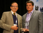 Digi-Key President Mark Larson and Michael Knight, Chair of the ECIA 2014 Executive Committee (Photo: Business Wire)