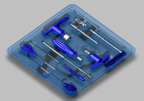 Industry first fully disposable spine implant fixation kit from ECA Medical Instruments in Thousand