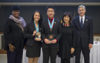 David Wu and Xinchu Tian are the team winners of the Siemens Competition regional event held at the University of Notre Dame. They advance to the National Finals in Washington, D.C. (Photo: Business Wire)