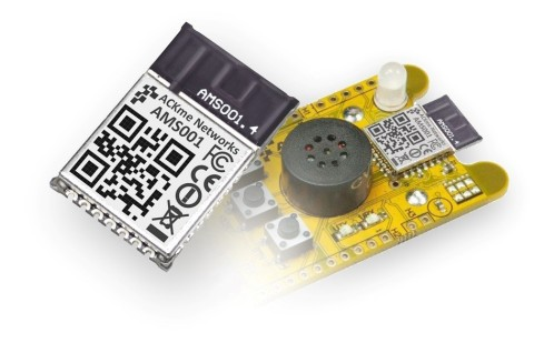 ACKme's Ultra Low Power Bluetooth Smart LE Bobcat LP module and Wahoo evaluation board (Photo: Busin ...