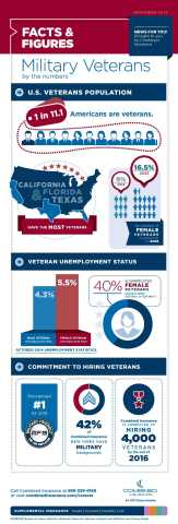 Current Veteran Unemployment Numbers Infographic (Graphic: Business Wire)