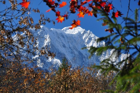 Snow-capped mountain peaks at Swallows' Gully. (Photo: Business Wire)