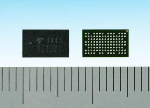 東芝:ウェアラブル端末向けアプリケーションプロセッサ「TZ1021MBG」(写真:ビジネスワイヤ)