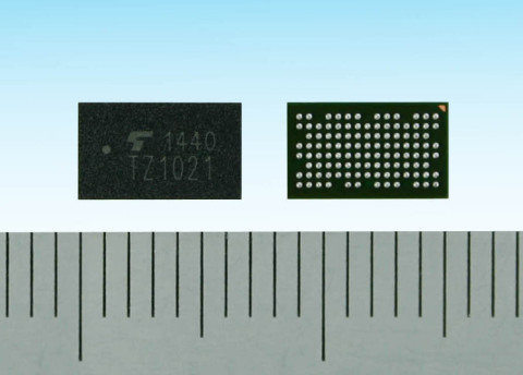 "Toshiba's application processor ""TZ1021MBG"" for wearable devices (Photo: Business Wire)"