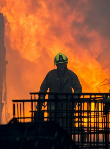 An Essex County firefighter in action (Photo: Business Wire)