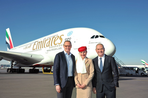 Starwood Hotels and Resorts announce Emirates Partnership - Frits Van Paasschen (Starwood CEO) and Thierry Antinori (Executive VP) (Photo: Business Wire).