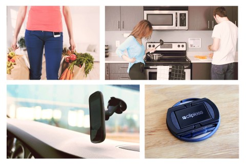 Clipless is the first wearable, magnetic mounting system to secure phones and tablets. (Graphic: Business Wire)