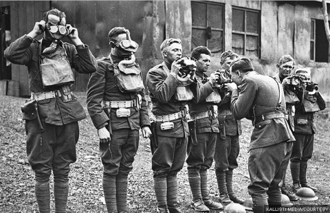 World War gas mask training: Soldier's Stories (Photo Credit:Kallisti Media)