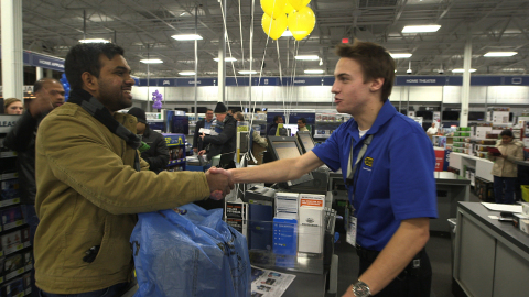 Doors open at 5 p.m. on Thanksgiving at Best Buy with deals on the best brands and products. (Photo: Best Buy)