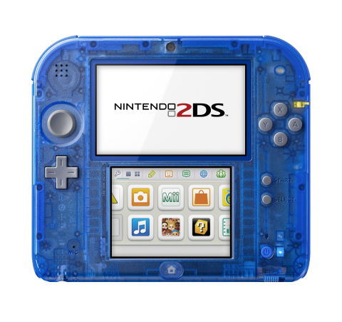 On Nov. 21, Nintendo launches new Crystal Red and Crystal Blue Nintendo 2DS systems at a suggested retail price of $99.99 each. (Photo: Business Wire)