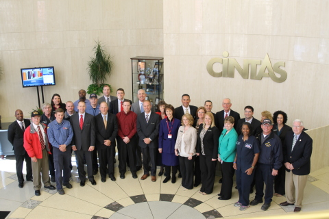 Cintas Employee-Partners in Mason, Ohio who represent a fraction of the Veterans employed nation-wid