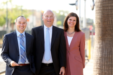 Presidio Bank San Mateo Team: Adam Baughman, Relationship Manager; Steve Fick, Market Manager; and C ...