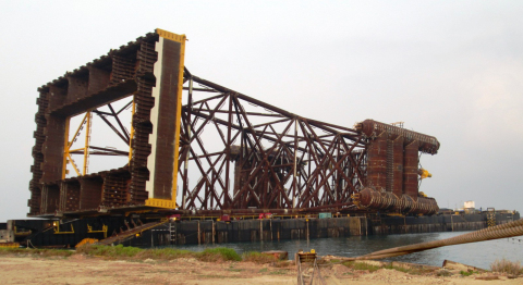 The 7,200-ton Ichthys Riser Support Structure accounts for more than 25 percent of the total 28,700-