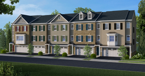 New Ryland Townhomes at Mercer Court (Photo: Business Wire)